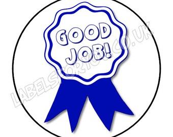 35 x 37mm Personalised Good Job Teacher Logo Stickers Labels