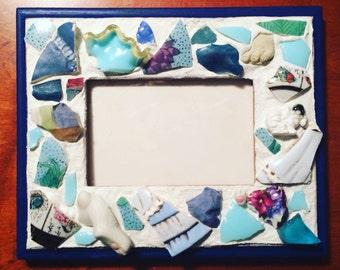 Artsy Blue Mosaic Frame