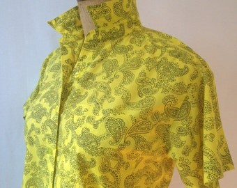 1980s yellow paisley blouse by RICKI size M