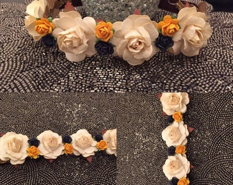 Handmade floral hair crown