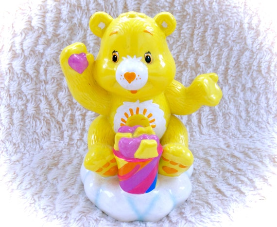 Items similar to vintage care bears funshine sunshine bear tcfc coin bank piggy bank purse safe - Piggy bank without stopper ...