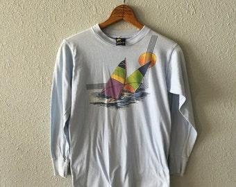 1982 Wind Surfer Vintage Tropiy Long Sleeve Surfer T Shirt
