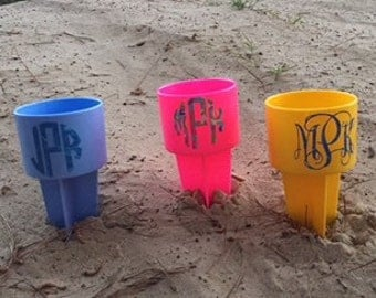 Sale~Beach Spikes Drink Holder~Holds 30 oz Yeti, Axis or Frio Cup~Cell~Lotion...etc...