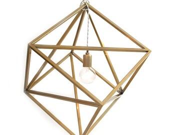Hanging Pendant Light Gold Steel