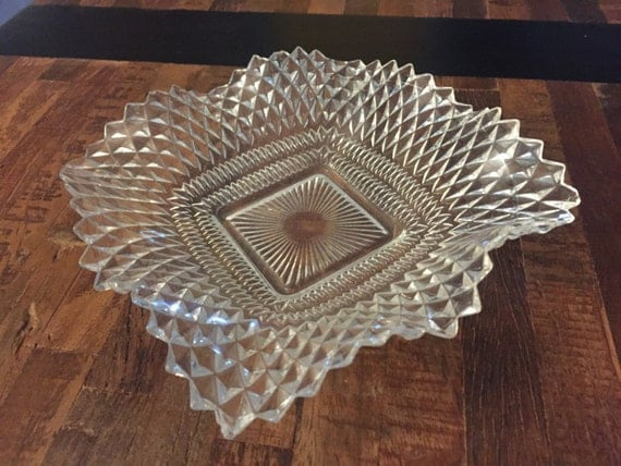 Vintage crystal cut glass candy dish How can i cut glass at home