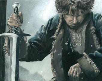 Bilbo Baggins Drawing   PRINT