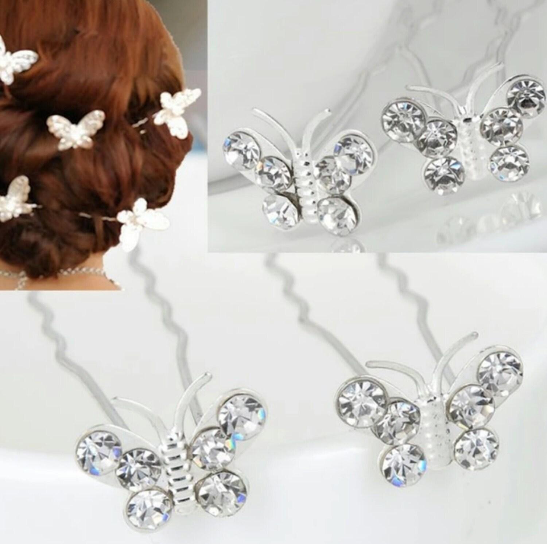 5pcs bridal hair pins rhinestone hair pins bridal wedding