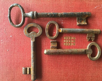 RUSTY OLD KEYS Instant set of old farmhouse keys for the rustic atmosphere, arts project, prop Vintage