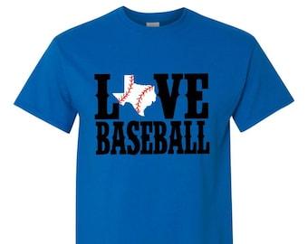 Love Baseball Bling State Baseball