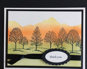 Peaceful Mountains Card