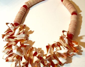 Eccentric seashell necklace | seashells | statement necklace | mermaid | big necklace | costume | FREE SHIPPING