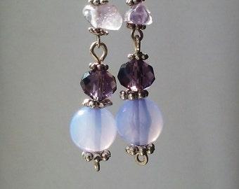 Amethyst and Ametrine Earrings