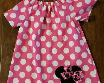 Minnie Mouse Dress with matching hairbow