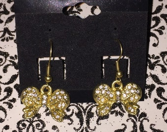 Gold Bows Earrings