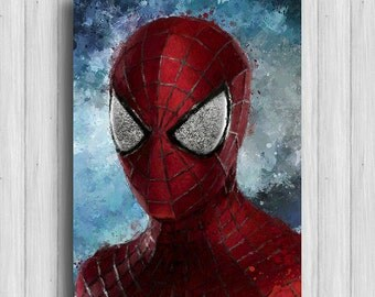 Spiderman print marvel prints superhero poster