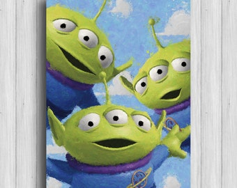 toy story alien print disney art toy story room little green men