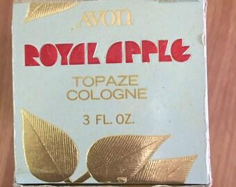 Vintage Avon Topaze Cologne in Apple bottle