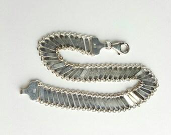 Beautiful Designer Italian Sterling Silver Bracelet