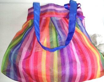 Mexican plastic mesh diaper bag