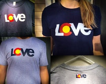 Colorado LCVE T-Shirt | Unisex | Multiple Colors! | Proceeds Donated to Coloradans in Need | 100% Cotton | Colorado Love Shirt | ShareLCVE