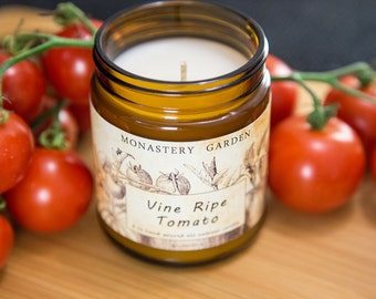 4 oz Soy candle VINE RIPE TOMATO, Scented candle, natural wax, vegan gift