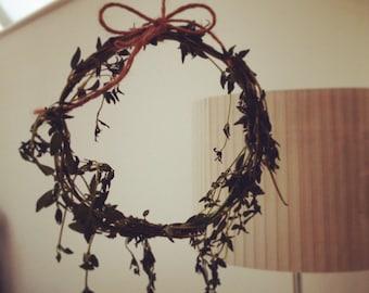 Mini herb wreaths