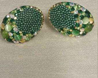 Chrystal gems earings