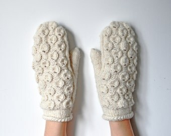 natural white wool mittens from relief circles knit natural white wool mittens winter woodland gloves cute mittens