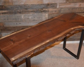 live edge console table/ entry way table/ sofa table// steel legs