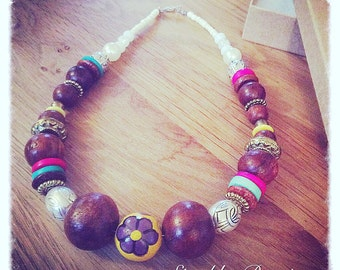 Bali Wooden Bead Necklace