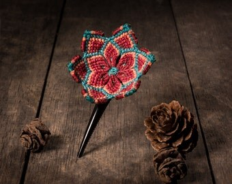 Mandala flower HairPins