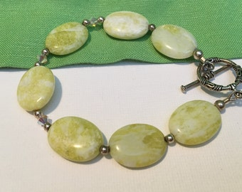 Clearance Sale- Lime Green Beaded Bracelet