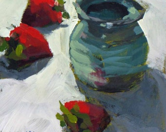Honey Pot and Strawberries 1