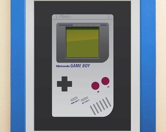 Nintendo Game Boy Wall Art, Game Boy poster, 16x20 inches, instant digital download