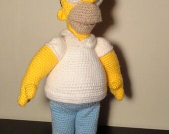 Homer Simpson Amigurumi toy