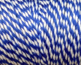 10m of Blue and White Cotton Bakers Twine - Macrame - Packaging - Scrapbooking