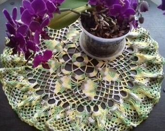 Colored crochet doily, decor vases, a lace doily, Central napkin, Handmade, openwork crochet, napkins bright crochet