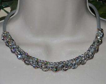 Choker with sparkling grey Boheme Czech beads CL KIRSCH