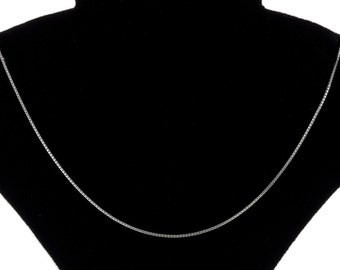 Italian Sterling Silver 0.6mm Box Chain Necklace