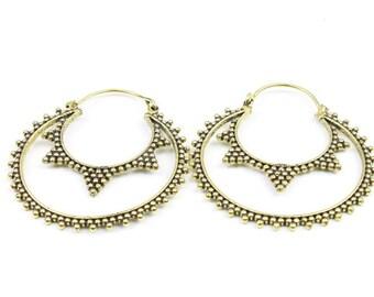 Brass Fortune Earrings, Brass Earrings, Indian Earrings, Gypsy Earrings, Ethnic Earrings