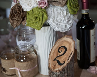 Hand made floral center pieces in vase