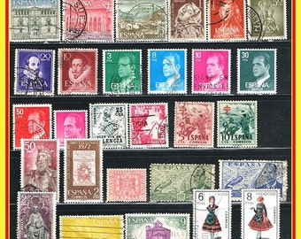 115 Spain Postage Stamps - All Different