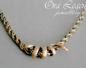 Snake pendant, gold snake pendant, snake with diamonds, necklace ejewelry