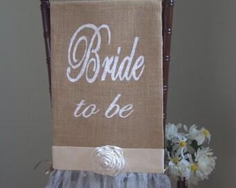Bridal Shower Chair Cover Bride Chair Wedding Shower Chair Decoration Bride To Be Chair Decoration