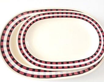 10% OFF 2 x Excellent Condition Vintage Original Villeroy And Boch Meat Plates