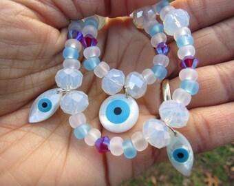 Evil Eye trio jewelry set