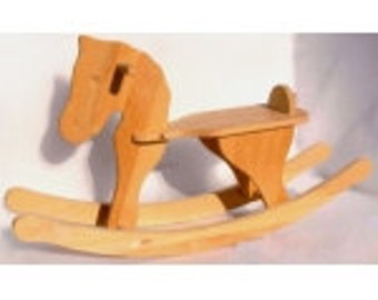 Natural Wood Rocking, Ride on Horse, Wooden Rocking toy