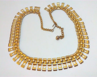 1950s, vintage necklace, chain necklace, 1950s necklace, statement necklace, vintage chain, wedding necklace, bride, bridal, wedding, 1950s