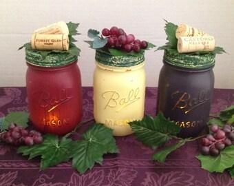 Wine Mason Jars