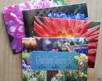 Set of 4 Note Cards with Envelopes, Garden